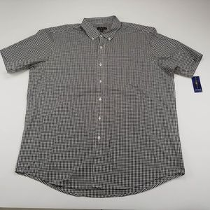 Club Room Plaid Button Down Dress Shirt XXL NWT